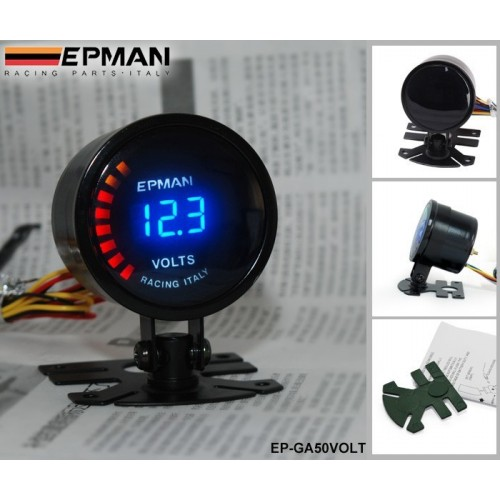 EPman racing 52mm Smoked LED Gauge Meter