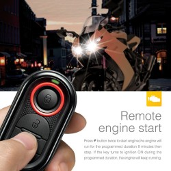 Motorcycle Engine Remote Start and Immobilization with Mini Transmitter