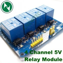 4 Channel 5V Relay Module Isolation Coupling.