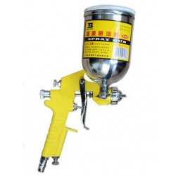 W-71G Air Paint Spray Gun HVLP Gravity Feed 400CC CUP