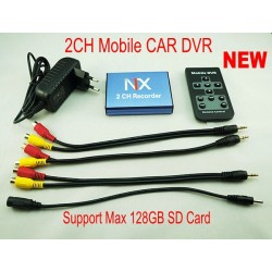 Mini Car DVR Box 2 Channel