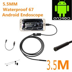 Car Endoscope USB Android Inspection HD 720P 5.5mm Camera