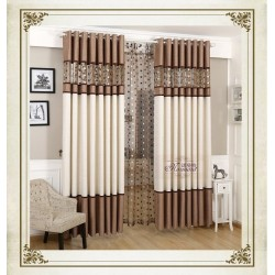 Luxury Finished Fabric Curtain for Bed and Living rooms