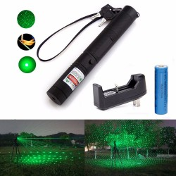 Green Laser Pointer 532nm 5mw 303 with 18650 Charger