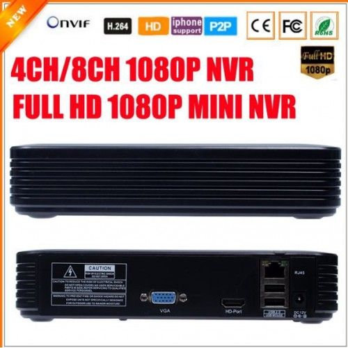 Mini NVR Full HD 1080P Security Standalone CCTV ONVIF 2.0