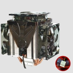 CPU Fan Cooler Heatsink 2500RPM 4 Wire Speed Regulation