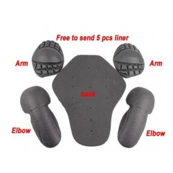 Motorcycle Jacket Soft Armor Protector Kit 5 pcs