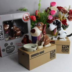 Dog Coin Bank Money Saving Box 16x15x8cm
