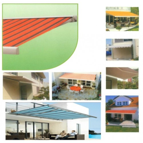 Box Folding Arm Awning