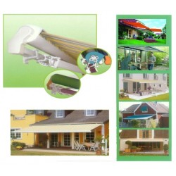 Half Box Folding Arm Awning