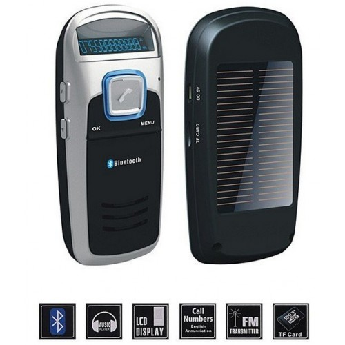 Solar Powered Car Handsfree Bluetooth