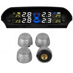 Solar Powered Wireless TPMS Trye Pressure Monitoring External Sensor.