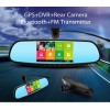 Special 5 inches Android Car Mirror Monitor FHD Daul DVR Rear Camera GPS NAV  VDO Player FM Tx with Original Bracket