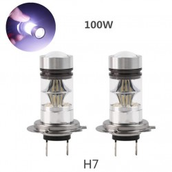 H7 High Power 100W LED 1800LM 6000K