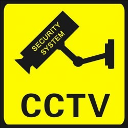 Waterproof Security Camera Sticker Warning 10x10cm