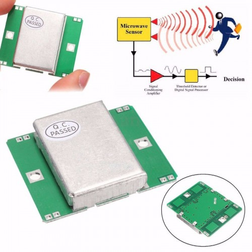 Microwave Sensor Module 10.525GHz Doppler Radar Motion Detector 40mA For Arduino