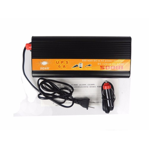 500W 12VDC to 220VAC Inverter and Battery Charger with UPS Function