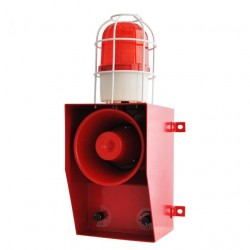 130dB Siren with Strobe Light Audible Visual Alarm Industrial Crane Emergency Beacon