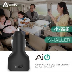 Aukey Dual Quick USB Car Charger 24W/4.8A 2 Ports