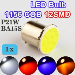 Car 12SMD COB LED Bulb 1156 BA15S P21W