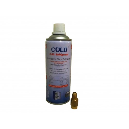 C-30 (cold 134) Refrigerant with adapter