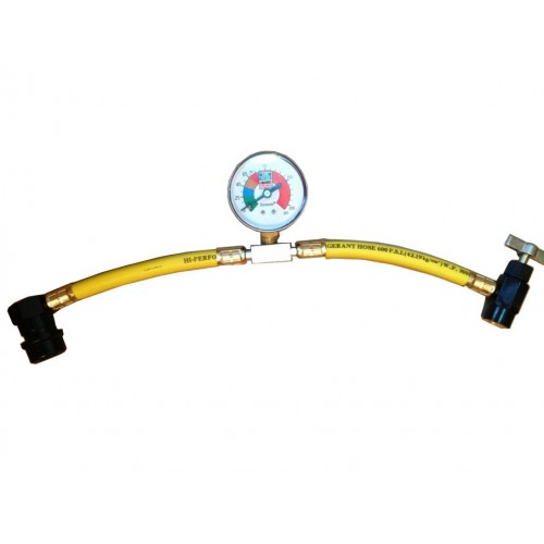R134a Recharge Hose with Gauge