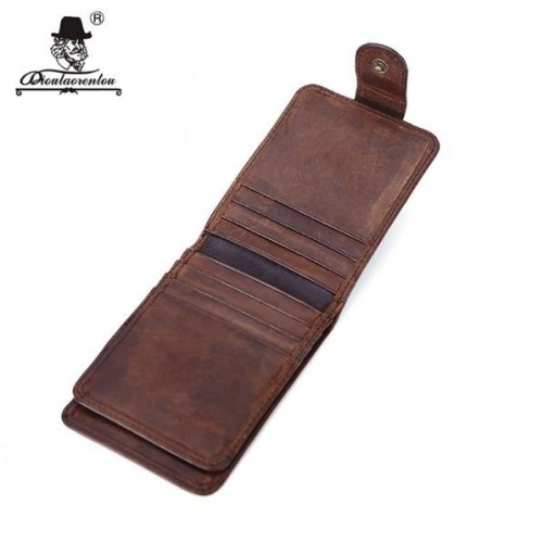 Genuine Leather Wallets Vintage 16 Slots Card Holder