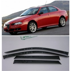 Alfa Romeo 156 Window Visors Side Rain Guard Vent Deflectors