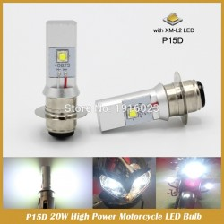P15D Motorcycle Led Headlight 930LM 20W High Low Beam