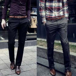 Mens Slim Fit Long Pants