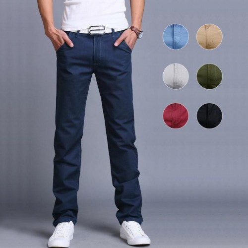 Fashion Men Business Casual Pants Cotton