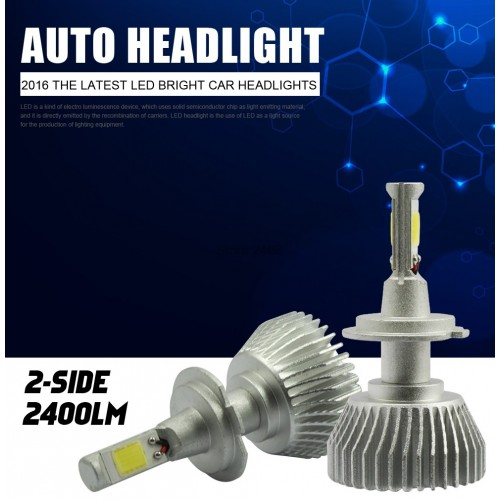 1 pair Car Headlight H7 LED 60W 6000LM White