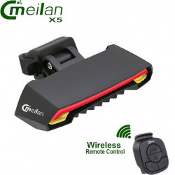 Meilan X5 Bicycle Rear Brake Turn Signal Light LED Laser Wireless Remote Control
