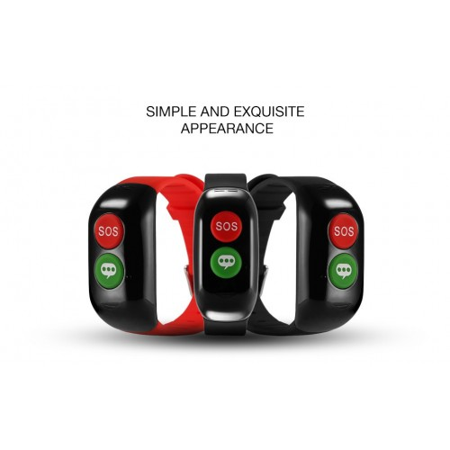 Old Man GPS WIFI LBS Positioning Smart Band Blood Pressure Heart Rate Monitor Tracker Bracelet Wristband