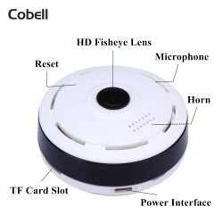 360 Degree Panoramic Fisheye Lens Mini WIFI Camera HD960P