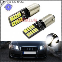2pcs CAN-bus Error Free 24-SMD 4014 BAX9S H6W T4W Parking Light Back Up Backup Reversing Brake Ligh