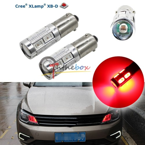 2PCS Red 3W CREE w 8-SMD BAX9S H6W 150  433C 434 Car Auto LED Lights Bulbs