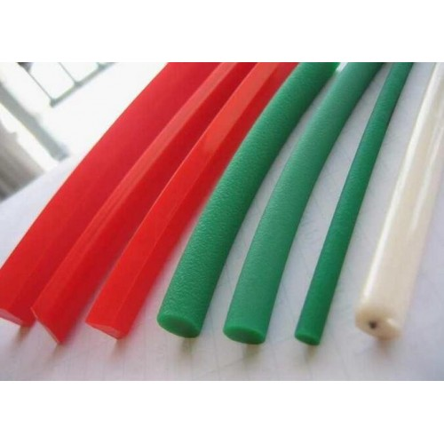 one meter diameter 6mm green red PU round belt synchronous belt driving conveyor belt PU green coars