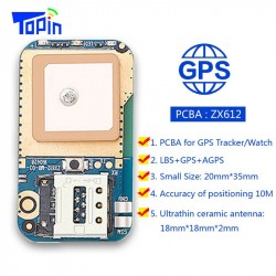 Hot ZX612 Mini Hidden GPS Tracker Positioner Locator SOS Alarm Web APP Tracking High Integration PCB