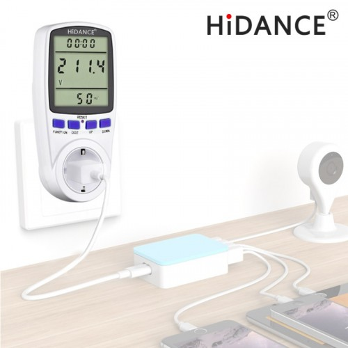HiDANCE AC power meter 220v digital wattmeter eu energy meter watt monitor electricity consumption M