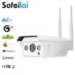1080P HD 4G 3G sim card wireless IP Camera 2MP outdoor infrared  128G SD card video record IR night