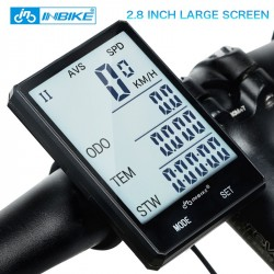 INBIKE 28 Large Screen Bicycle Computer Wireless Bike Computer Rainproof Speedometer Odometer Cyc