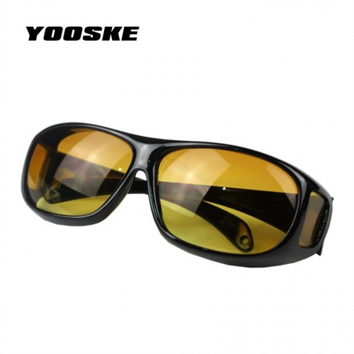 YOOSKE HD Vision Over Wrap Arounds glasses HQ Driver Safety Night Driving Glasses Goggles Anti Glare