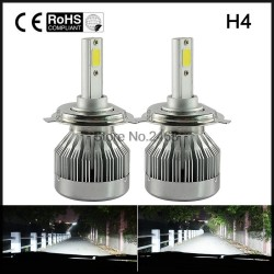 60W 6000LM H4 LED Light Headlight Vehicle Car HiLo Beam Bulb Kit 6000k White 3000K Golden