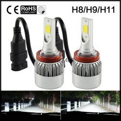 H11 LED Headlight COB 72W Car Led Headlights Bulb Fog Light White Yellow Auto Headlamp for ToyotaVW
