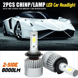 H4 H7 H13 H11 H1 9005 9006 COB LED Headlight 72W 8000LM All In One Car LED Headlights Bulb Head Lamp