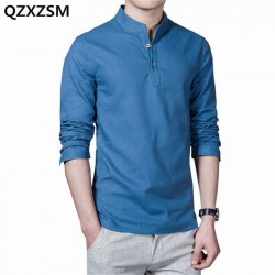 QZXZSM Men Polo Shirts 2017 Spring and summer Mens Fashion Long Sleeve Polo Shirts Casual Slim Fit S