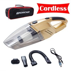 Car Vacuum Cleaner 12V Coreless Rechargeable Handheld Auto Vacuum Sweeper Vehicle Home Office Wirele