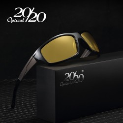 2020 New Night Vision Sunglasses Men Brand Designer Fashion Polarized Night Driving Enhanced Light