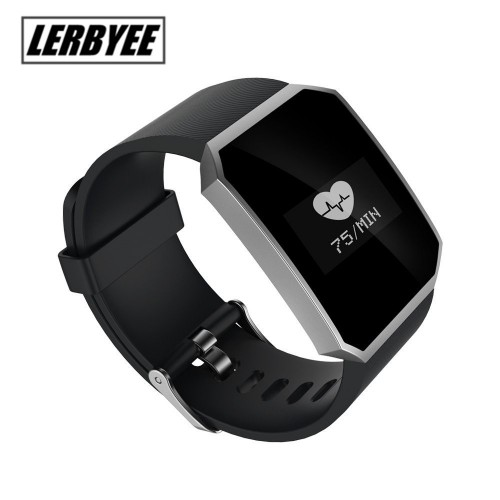 Lerbyee Sport Smart Wristband Heart Rate Monitor Fitness Tracker Waterproof  Bluetooth Passometer Br